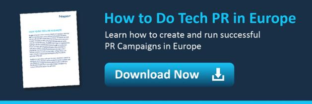 doing tech pr in europe