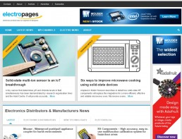 Electropages website 2016