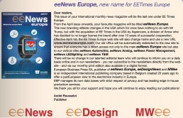 EE Times Europe becomes eeNews Europe