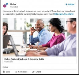New LinkedIn Sponsored Content Format
